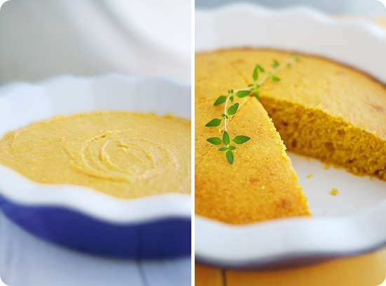 Pumpkin Honey Cornbread – Fluffy, slightly sweet and perfect alongside your next soup, stew or chili! | thecomfortofcooking.com