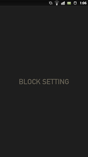 BLOCK SETTING