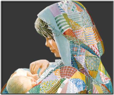 madre con bebe vintage (5)