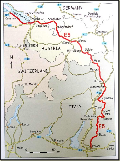 Our 540km section of the E5 route
