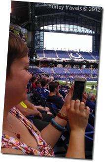 Krissy enjoying the Colts.