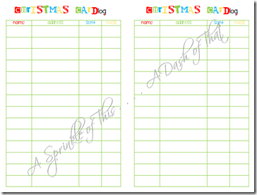 Christmas Planner page 6 and page 7