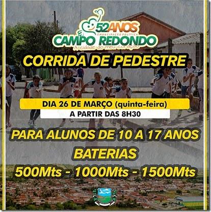 Corrida de Pedestre - 52 anos Campo Redondo