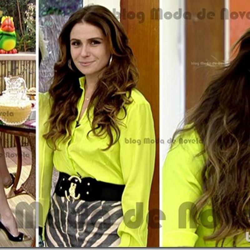 Look da Giovanna Antonelli no programa Mais Você de 21 de março