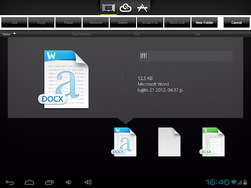 CloudOn su Galaxy Tab 10.1