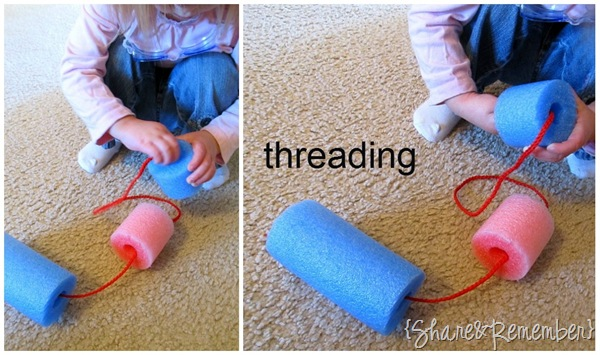 Threading Pool Noodles
