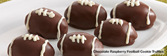 Chocolate-Raspberry Football Cookie Truffles