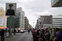 Checkpoint Charlie - looking into (former) East Berlin