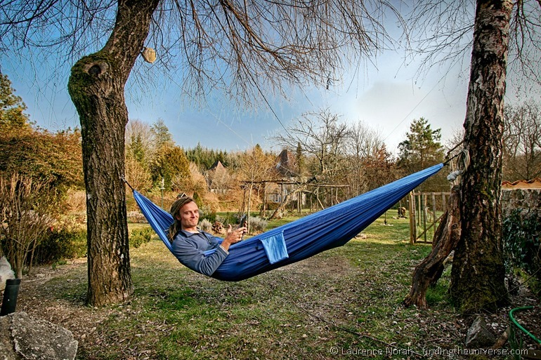 Laurence in a Hammock