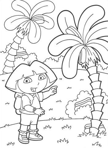 desenhar Dora a aventureira na selva e colorir