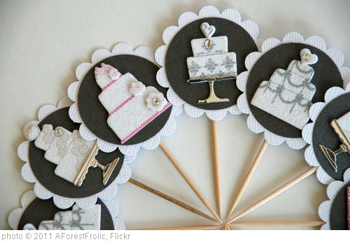 'Bridal shower/wedding cupcake toppers' photo (c) 2011, AForestFrolic - license: http://creativecommons.org/licenses/by/2.0/