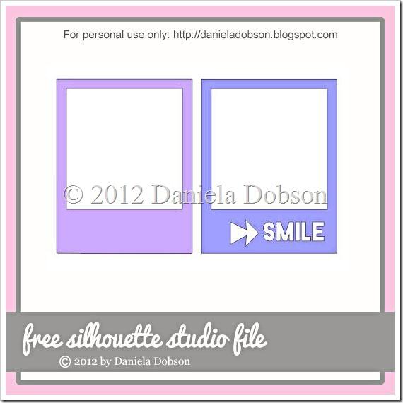 Smile polaroid frames by Daniela Dobson