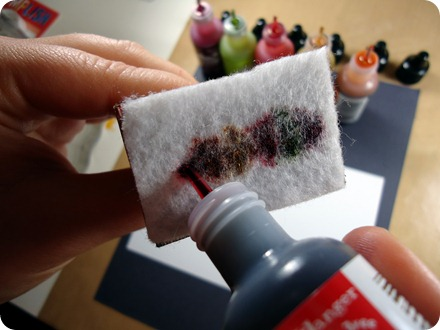 Alcohol Ink Tutorial - Plaid 003