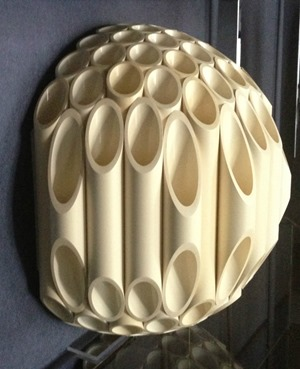 Rougier tube lamp ball sconce