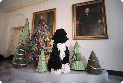 White House Paper Christmas Trees 2011