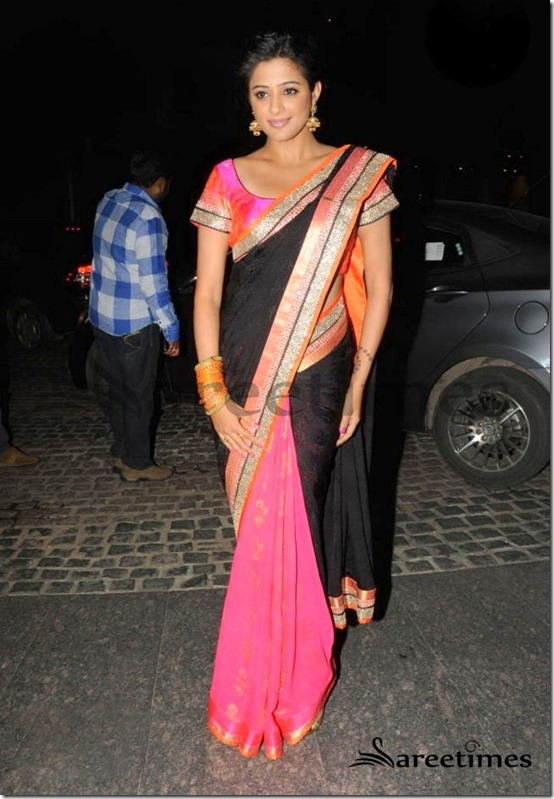 Priyamani_Dual_Color_Saree