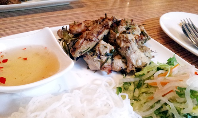 Chargrilled lemongrass chicken