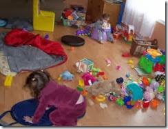 juegos de niños y desorden