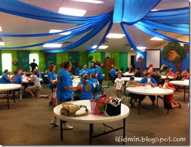 vbs 2014 workers eating before