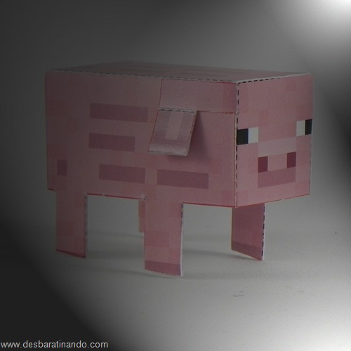Paper Toys minecraft pig