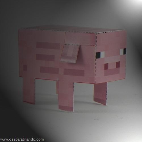 Paper Toys minecraft pig