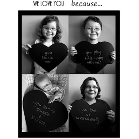 We Love You Because Print from B-InspiredMama.com