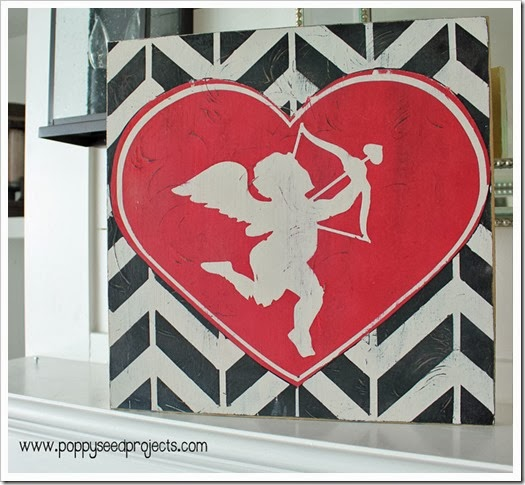 DIY Valentine Antiqued Subway Art Plaque