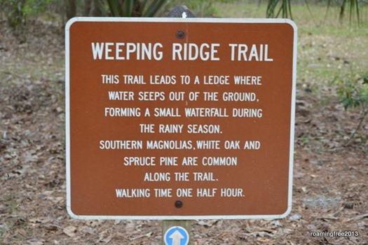 Weeping Ridge Trail