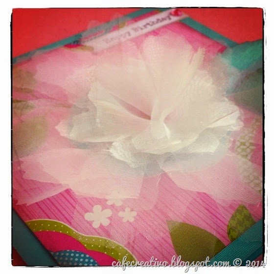 cafe creativo - sizzix big shot - fiore organza chiffon flower