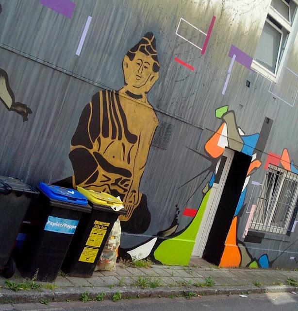 Buddha an Hauswand, Bremen