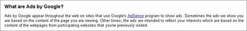 What are ads by Google