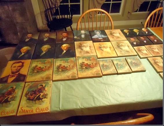 prints on table 2