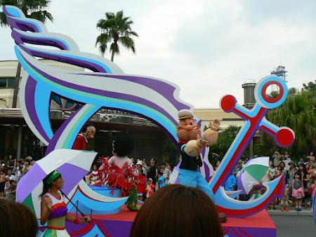 Atractii Osaka: Popeye la Universal Studios Osaka