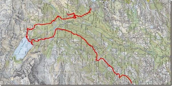 Mapa da trilha Tzeuzier
