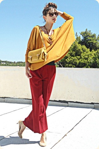 mustard-zara-top-mustard-lulus-bag-ruby-red-pants-nude-steve-madden-pumps_400