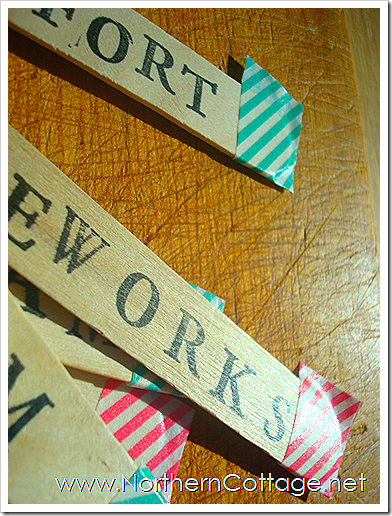 washi tape sticks northern cottage