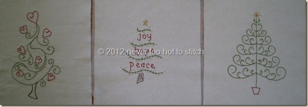 2012 three Christmas tree blocks