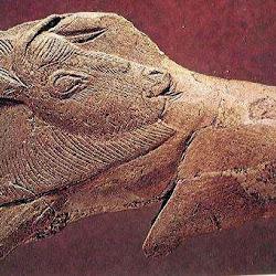 04 - Cabeza bisonte vuelta en propulsor de la Cueva de La Madeleine