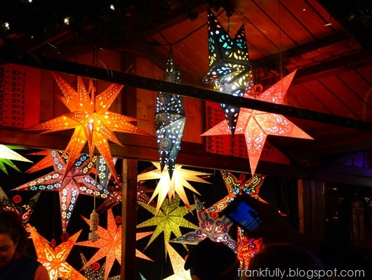 colorful stars at Christkindlmarket, Chicago