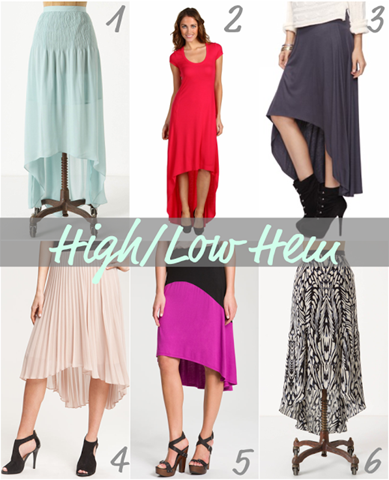 high low hem skirts