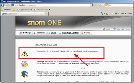 notice you need to register snomONE