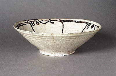 Bowl Iran, Nishapur Bowl, 10th century Ceramic; Vessel, Earthenware, white slip, slip-painted in black, 3 1/4 x 10 1/4 in. (8.3 x 26.04 cm) Art Museum Council Fund (M.68.22.9) Art of the Middle East: Islamic Department.