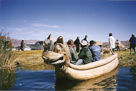Things to do in Titicaca: Uros boats on the floating island