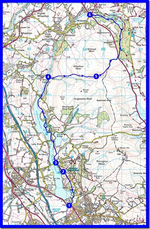 Our route: 18km, 400 metres ascent, 5 hours