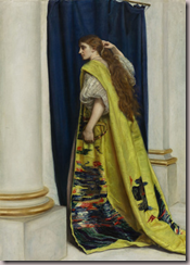 reprsentation par John Everett Millais, dEsther (1865) en costume de soie chinoise.