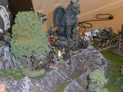 Goblin archers surprise the adventurer warband