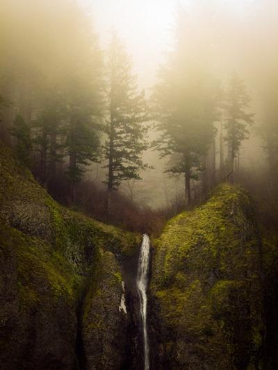 falls and fog