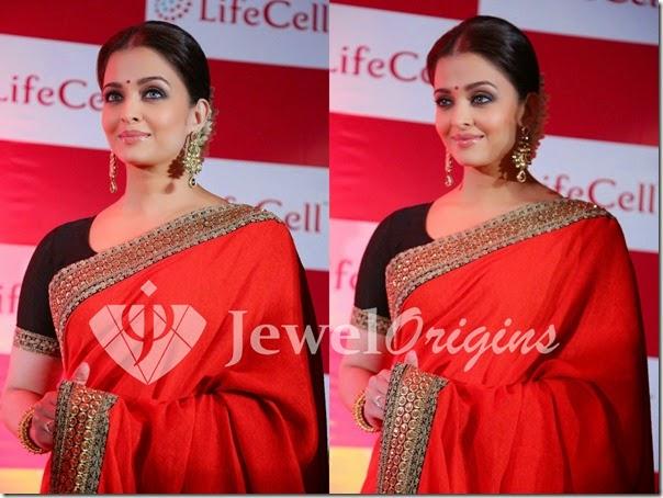 Aishwarya_Rai_Red_Gold_Earrings