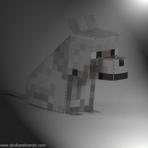 paper toy minecraft lobo