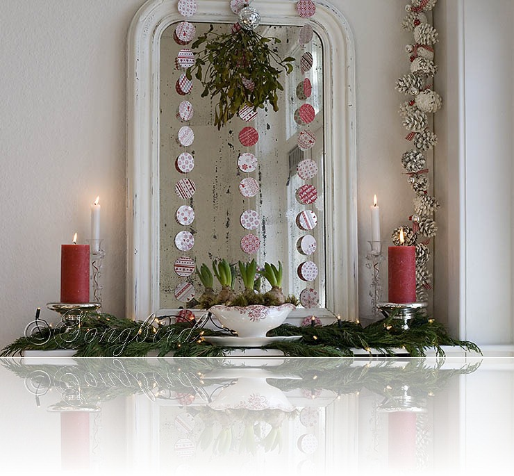 Songbird Christmas Mantel Decor 2